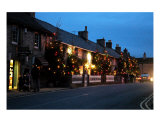 Christmas Lights And Trees In Castleton Photographic Print by Jean Fitzhugh