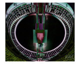 08313 Gasometer Uhr 03 Giclee Print by andreas kovar