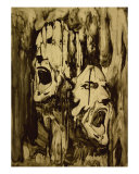 Faces Of Agony Giclee Print by Tom Wrenn