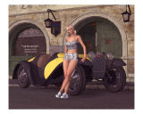 1932 Sport Roadster Pose Photographic Print by John Junek