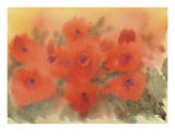Poppies In A Haze Giclee Print by David Bishop