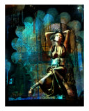Besan In Blue Photographic Print by Tony Pavone