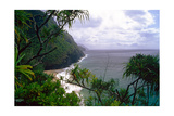 Hanakapiai Beach, Na Pali Coast, Kauai Photographic Print by George Oze