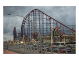 Blackpools Pleasure Beach Ride The Big One Photographic Print by Jean Fitzhugh
