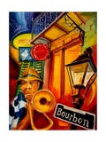 Bourbon Street Jazz Art by Diane Millsap