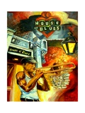 New Orleans House Of Blues Reproduction proc&#233;d&#233; gicl&#233;e par Diane Millsap
