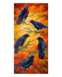 Gossip Column - Crows Giclee Print by Marion Rose