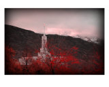 Mount Timpanogos Temple - Red Photographic Print by Ryan Houston