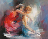 Two Girl Friends II Posters av Willem Haenraets