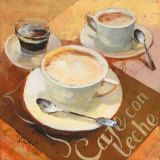 Cafe Grande II Lmina por Willem Haenraets