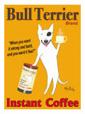 Reklama kawy Bull Terrier, angielski Wydruk giclee autor Ken Bailey