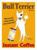 Ken Bailey - Značka Bull Terrier Brand - Instant Coffee (plakát vangličtině) Digitálně vytištěná reprodukce