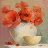 Lovely Poppies II Print by Willem Haenraets