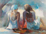 Two Girl Friends I Print by Willem Haenraets
