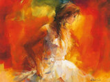 Young Girl I Posters av Willem Haenraets