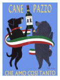Cane Pazzo Giclee Print by Ken Bailey