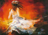 Young Girl II Lminas por Willem Haenraets