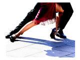 Blue Tango Giclée-tryk af Michele Roohani