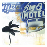 Big 8 Motel Giclee Print by David Dauncey