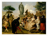 The Minuet Giclee Print by Giovanni Battista Tiepolo