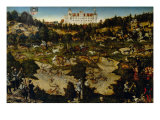 Hunt in Honor of Charles V at Torgau Castle Giclee Print by Lucas Cranach the Elder