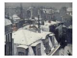 Vue de toits (Effet de neige), dit Toits sous la neige Giclee Print by Gustave Caillebotte