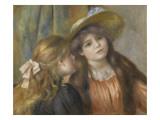 Portrait de deux fillettes Giclee Print by Pierre-Auguste Renoir