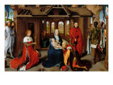 Triptych, Adoration of the Magi Giclee Print by Hans Memling