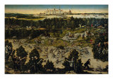 Hunt in Honor of Charles V Against the Background of Torgau Castle Lámina giclée por Lucas Cranach the Elder
