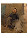 The Sleeping Itinerant Giclee Print by Jules Bastien-Lepage