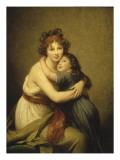 Madame Vigée-Le Brun et sa fille, Jeanne-Lucie, dite Julie (1780-1819) Giclée-Druck von Elisabeth Louise Vigee-LeBrun