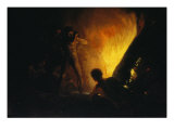 Savages around a Fire Giclee Print by Francisco de Goya
