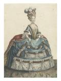Robe de cour pendant l'hiver à Versailles sous Louis XVI Giclée-Druck von Etienne Claude Voysard