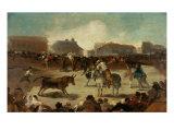 Bullfight in a Village Giclee Print by Francisco de Goya
