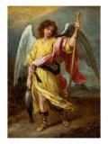 The Archangel Raphael Giclée-tryk af Bartolome Esteban Murillo