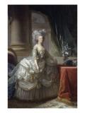 Marie-Antoinette d'Autriche, reine de France (1755-1793), en robe à paniers vers 1785 Giclée-Druck von Elisabeth Louise Vigee-LeBrun