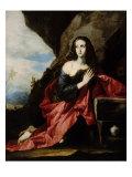 The Magdalen at Prayer Giclée-tryk af Jusepe de Ribera