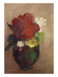 Vase of Flowers, Red Poppy Giclee Print by Odilon Redon