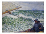 The Man at the Helm Giclee Print by Theo van Rysselberghe