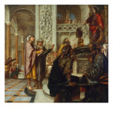 Disputation with the Doctors Gicl&#233;e-Druck von Juan de Valdes Leal