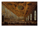 The Doge Thanking the Great Council Giclee Print by Francesco Guardi