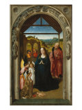 Polyptych of the Childhood of Christ, Panel with the Adoration of the Shepherds Giclee Print by Dieric Bouts