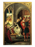 Saint Dominic Bringing a Young Man Back to Life Giclee Print by Pedro Berruguete