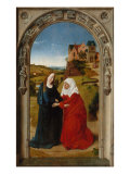 Polyptych of the Childhood of Christ, Panel with the Visitation Giclee Print by Dieric Bouts