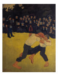 Breton Wrestling Giclee Print by Paul Serusier
