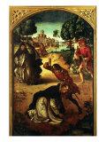 Death of Saint Peter Martyr Giclée-tryk af Pedro Berruguete