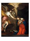 Annunciation Giclée-tryk af Francesco Furini