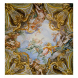Ceiling with the Summer Giclee Print by Gregorio De Ferrari