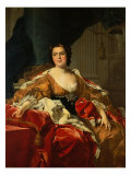 Portrait of Isabella of Bourbon, Wife of Don Philip of Parma Giclee Print by Louis-Michel van Loo