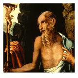 Saint Jerome Giclee Print by Luis De Morales